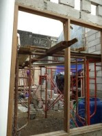 pasang CLC dengan scaffolding
