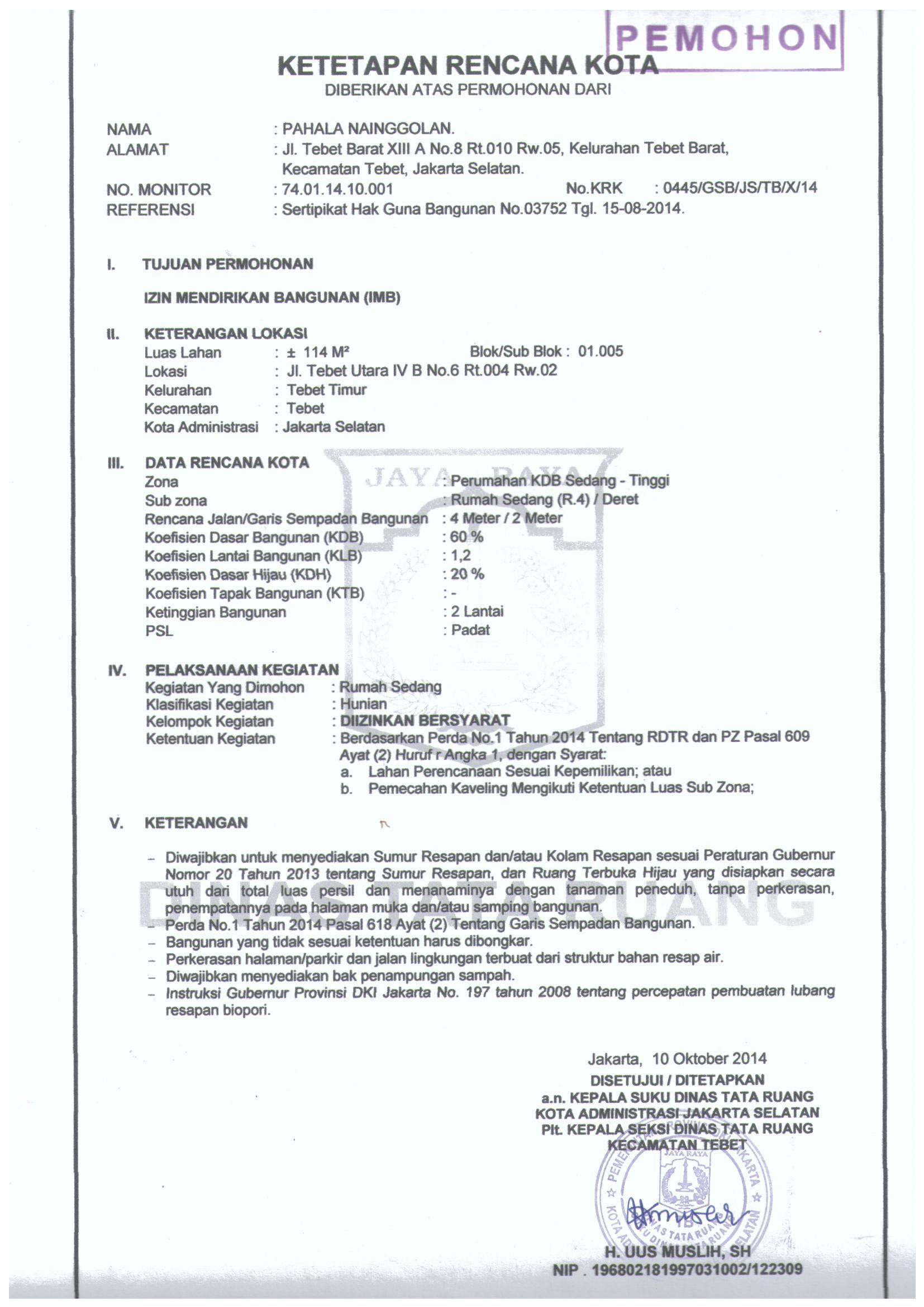 Imb Online Ngurus Di Kecamatan 1 Urus imb di kelurahan